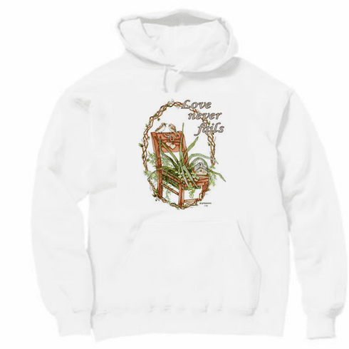 Country Decorative Love never fails pullover hoodie hooded sweatshirt