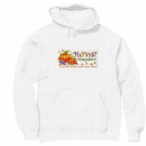 Country Decorative Love one another with a pure heart harvest harmony pullover hoodie hooded sweatshirt