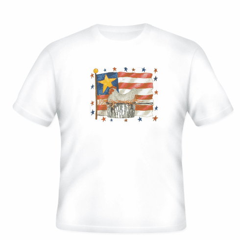 Country Decorative Patriotic flag chicken tshirt shirt