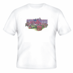 Country Decorative Picket fence bicycle bike tshirt shirt