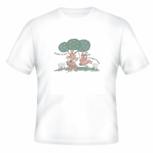 Country Decorative Promises of love and laughter everyday bunnies bunny rabbit tshirt shirt