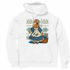 country decorative pullover hooded hoodie sweatshirt bunny rabbit