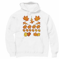 country decorative pullover hooded hoodie sweatshirt fall autumn leaves leaf