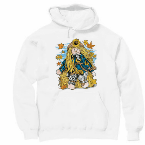 country decorative pullover hooded hoodie sweatshirt fall harvest scarecrow scare crow