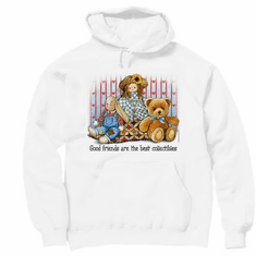country decorative pullover hooded hoodie sweatshirt good friends are best collectibles teddy bear