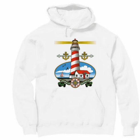 country decorative pullover hooded hoodie sweatshirt LIGHTHOUSE light house