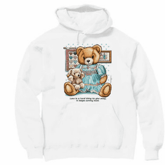 country decorative pullover hooded hoodie sweatshirt teddy bear love hard to give away keeps coming back