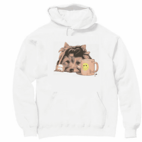 Country Decorative Puppy do smiley cup mug pullover hoodie hooded sweatshirt