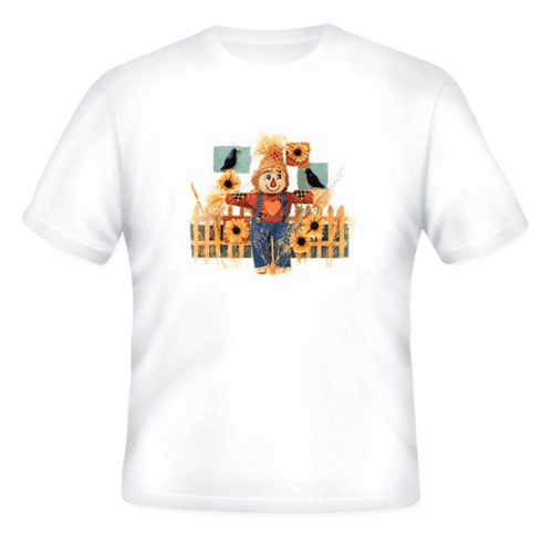 Country Decorative scarecrow scare crow sunflower tshirt shirt