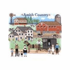 country decorative shirt Amish country community horse buggy farm