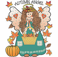 country decorative shirt autumn angel fall