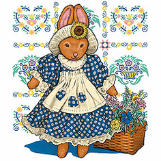 country decorative shirt bunny rabbit