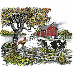 country decorative shirt farm barn cow chicken fence pasture farmer farming