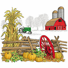 country decorative shirt farm farmer farming fall autumn tractor barn