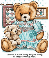 country decorative shirt teddy bear love hard to give away keeps coming back