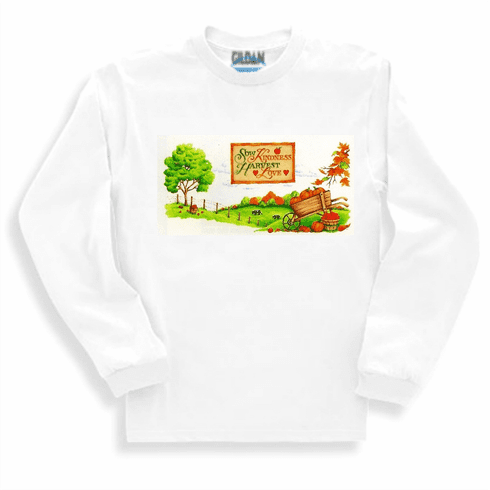 Country Decorative Sow Kindness harvest love tree scene long sleeve tshirt sweatshirt