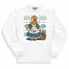 country decorative sweatshirt or long sleeve t-shirt bunny rabbit