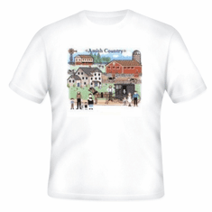 country decorative t-shirt Amish country community horse buggy farm