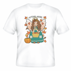 country decorative t-shirt autumn angel fall