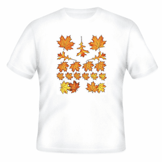 country decorative t-shirt fall autumn leaves leaf