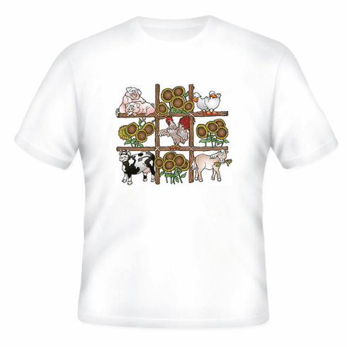 Country Decorative T-shirt farm country animals pig cow horse chicken ducks