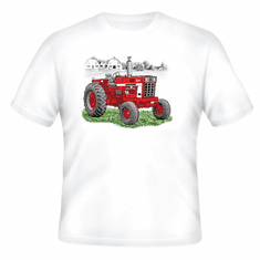 country decorative t-shirt TRACTOR red farm farmer farming