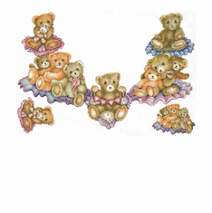 Country Decorative teddy bear necklace tshirt shirt