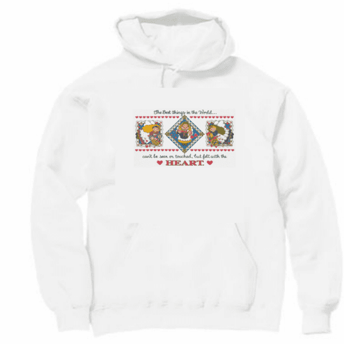 Country Decorative the best things in the world can't be seen or touched but felt with the heart pullover hoodie hooded sweatshirt
