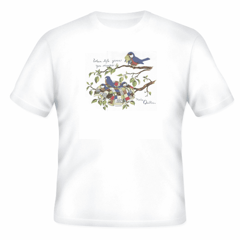 Country Decorative when life hands scraps make quilts tshirt shirt
