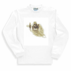 Country Western Covered Wagon Cowboy old west long sleeve t-shirt sweatshirt