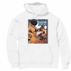 Country Western hoodie hooded sweatshirt Save a horse ride a cowgirl
