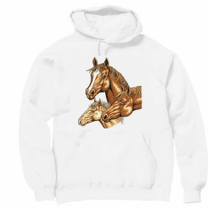 Country Western horses hoodie hooded sweatshirt