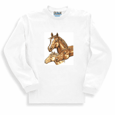 Country Western horses long sleeve t-shirt sweatshirt