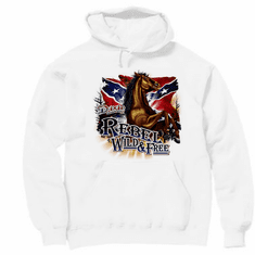 Country Western Rebel Wild and Free hoodie hooded sweatshirt