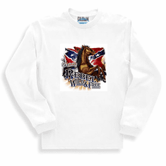 Country Western Rebel Wild and Free long sleeve t-shirt sweatshirt