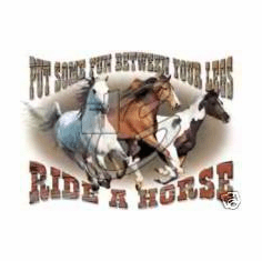 Country Western Shirt: Put some fun between your legs Ride a horse