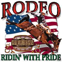 Country Western shirt RODEO ridin' with pride