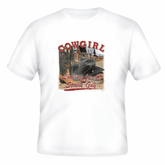 Country Western t-shirt: Cowgirl looking for a stable guy