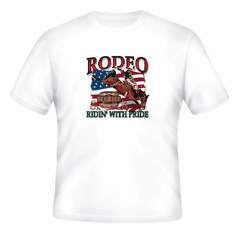 Country Western t-shirt RODEO ridin' with pride