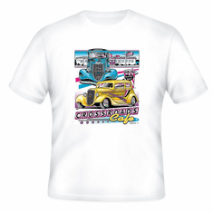 Crossroads Cafe antique 50's car t-shirt shirt