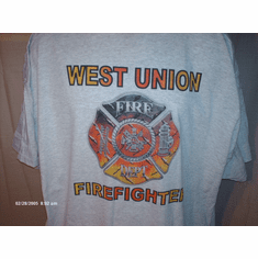 CUSTOM firefighter fire department shirt t-shirt sweat sleeveless long short sleeve