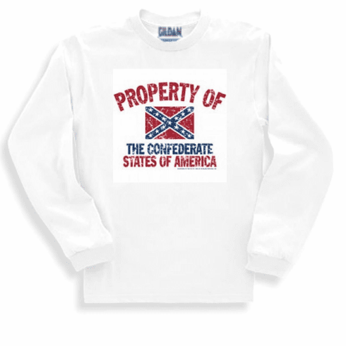 dixie shirt Property of the Confederate states of America flag southern long sleeve t-shirt or sweatshirt