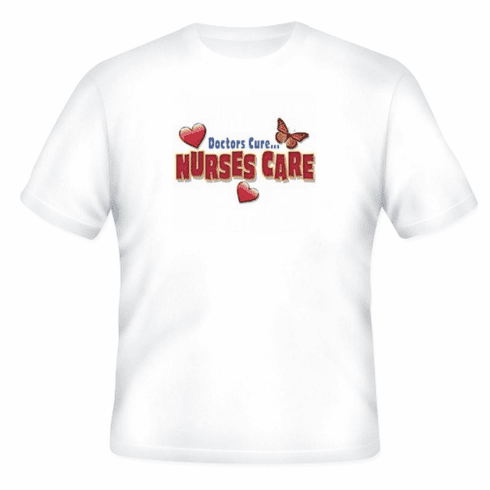 Doctors Cure NURSES care t-shirt shirt