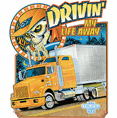 Drivin' my life away t-shirt semi driver trucker driving