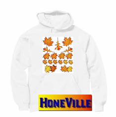 Fall autumn harvest leaves country decorative nature pullover hoodie hooded sweatshirt