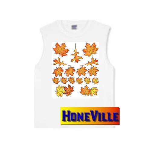 Fall autumn harvest leaves country decorative nature sleeveless T-shirt