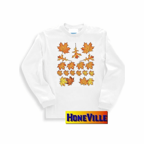 Fall autumn harvest leaves country decorative nature sweatshirt or long sleeve t-shirt