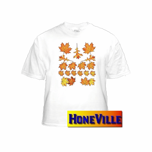 Fall autumn harvest leaves country decorative nature T-shirt
