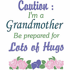 Family Grandma Grandmother Caution I'm a Grandmother be prepared for lots of hugs tshirt shirt