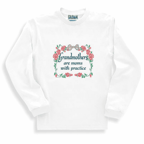 Family Grandma Grandmother Grandmothers are moms with practice long sleeve tshirt sweatshirt